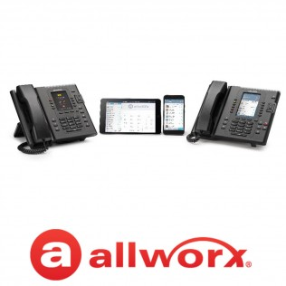 allworx logo and equipment