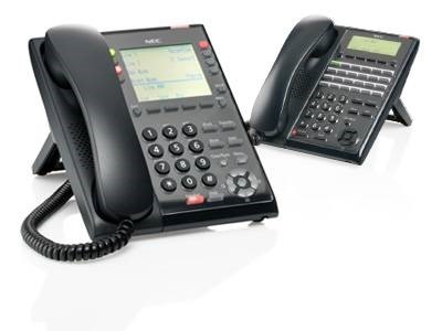 two land-line business phones