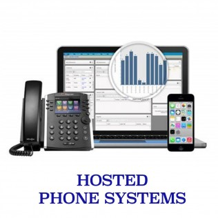 hosted phone systems logo and equipment